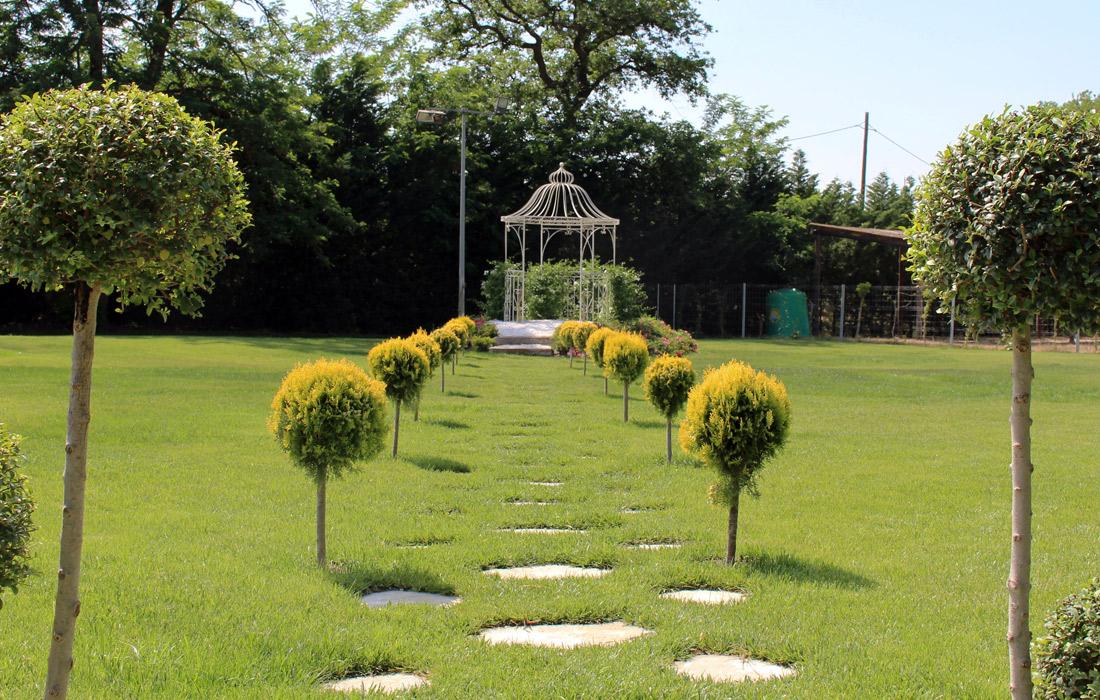 Detalles del Jardín principal para tu boda civil - Miravent Bodas
