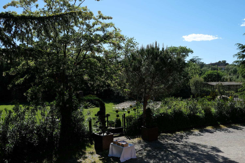 Gran jardín exterior para bodas civiles - Miravent Bodas