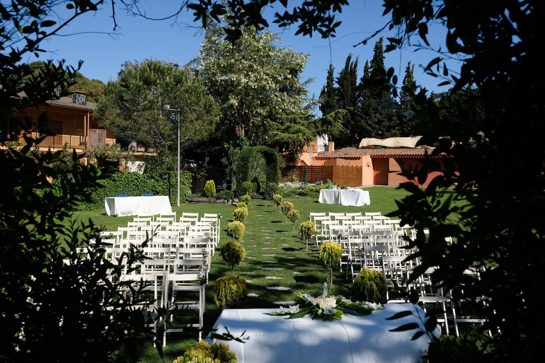Jardín principal idílico para bodas - Miravent Bodas